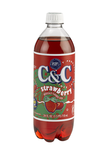 C&C Soda Strawberry 710ml  (US)